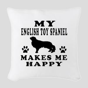My English Toy Spaniel makes me happy Woven Throw