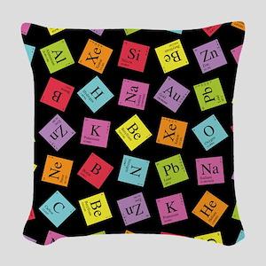 periodic_3 Woven Throw Pillow