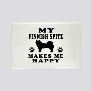 My Finnish Spitz makes me happy Rectangle Magnet