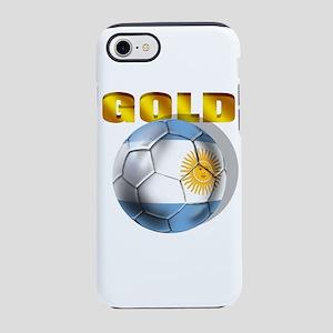 Argentina Soccer Gold iPhone 7 Tough Case