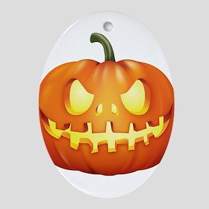 Halloween - Jackolantern Ornament (Oval)