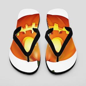 Halloween - Jackolantern Flip Flops