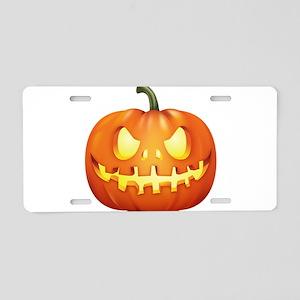 Halloween - Jackolantern Aluminum License Plate