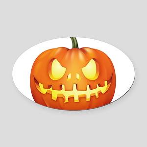 Halloween - Jackolantern Oval Car Magnet