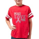 Peace Love Pink Youth Football Shirt