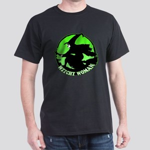 Witchy Woman (Green) Dark T-Shirt