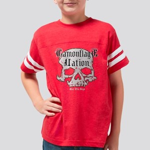 Camouflage Nation Skull Youth Football Shirt