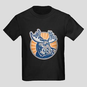 Angry Moose Mascot Retro T-Shirt