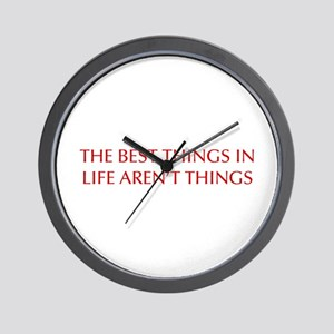 best-things-in-life-OPT-RED Wall Clock