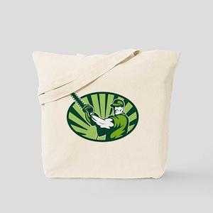 Gardener Landscaper Hedge Trimmer Retro Tote Bag