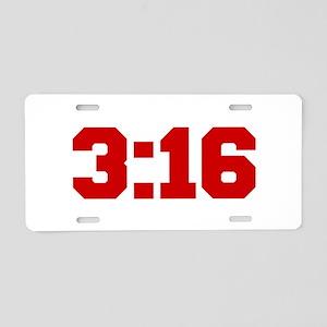 3-16-fresh-red Aluminum License Plate