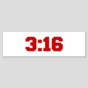 3-16-fresh-red Bumper Sticker