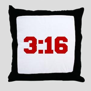 3-16-fresh-red Throw Pillow