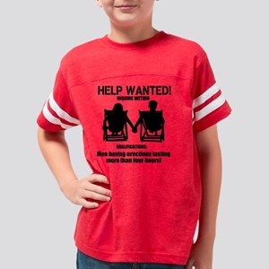 Help Wanted Ladies! Youth Football Shirt