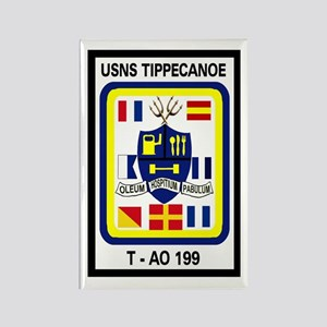 T AO 199 USNS Tippecanoe Rectangle Magnet