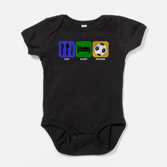 Eat Sleep Soccer Baby Bodysuit