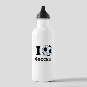 I Heart Soccer Sports Water Bottle