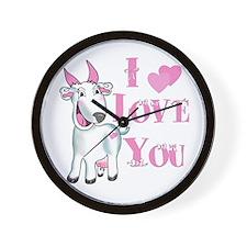 Goat-ILoveYou Wall Clock