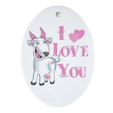 Goat-ILoveYou Oval Ornament