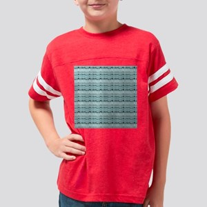 Cool Breeze Blue Abstract Youth Football Shirt