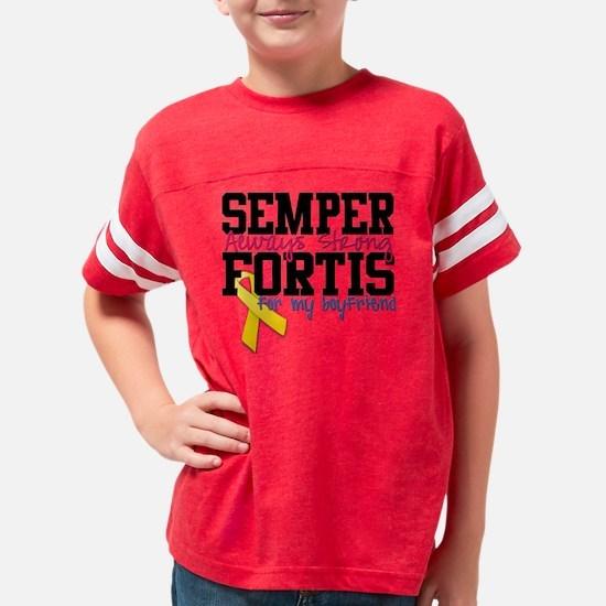 semperfortisboyfriend Youth Football Shirt