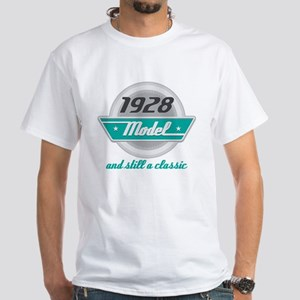 1928 Birthday Vintage Chrome White T-Shirt