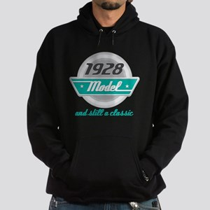 1928 Birthday Vintage Chrome Hoodie (dark)