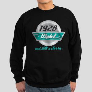 1928 Birthday Vintage Chrome Sweatshirt (dark)