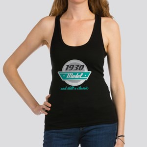 1930 Birthday Vintage Chrome Racerback Tank Top