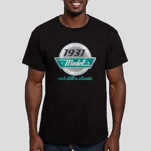 1931 Birthday Vintage Chrome Men's Fitted T-Shirt