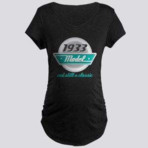 1933 Birthday Vintage Chrome Maternity Dark T-Shir