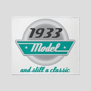 1933 Birthday Vintage Chrome Throw Blanket