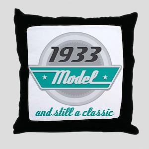 1933 Birthday Vintage Chrome Throw Pillow
