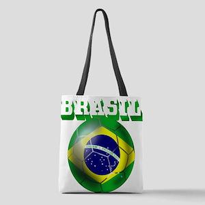 Brasil Football Polyester Tote Bag