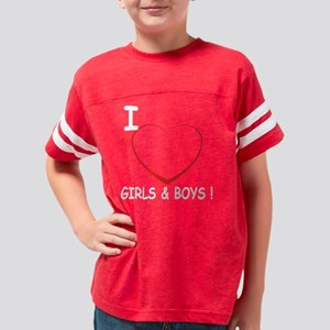 heart boys and girls Youth Football Shirt