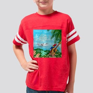 Tropical Travels Youth Football Shirt