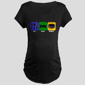 Eat Sleep Hockey Maternity T-Shirt