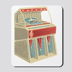 Grunge Retro Jukebox Mousepad