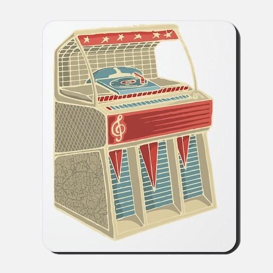 Grunge Retro Jukebox Mousepad