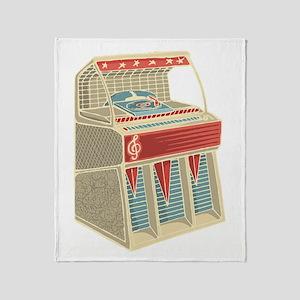 Grunge Retro Jukebox Throw Blanket