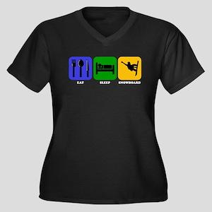 Eat Sleep Snowboard Plus Size T-Shirt