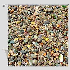 Beach pebbles Shower Curtain
