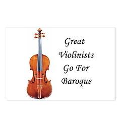 Great Violinists Go for Baroque Postcards (8/Pkg)