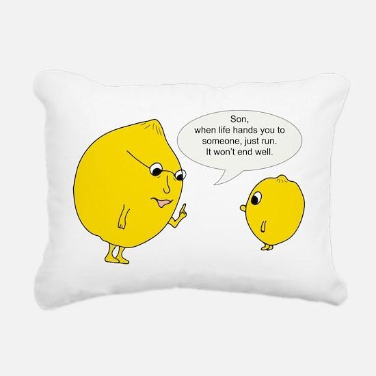 Lemonly Advice Rectangular Canvas Pillow