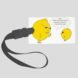Lemonly Advice Large Luggage Tag