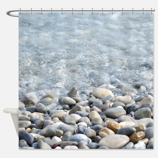 Ocean pebbles Shower Curtain