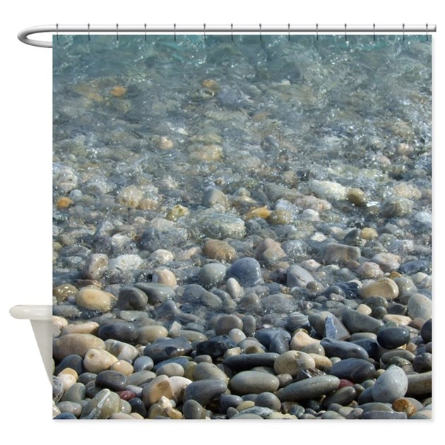 River Pebbles Shower Curtain By InspirationzStore