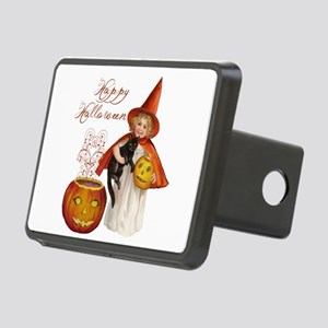 Vintage Halloween witch Hitch Cover