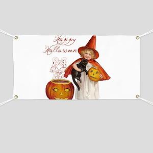Vintage Halloween witch Banner