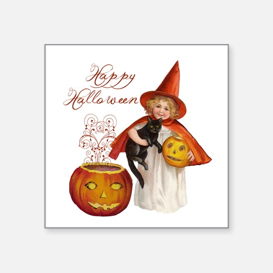 Vintage Halloween witch Sticker